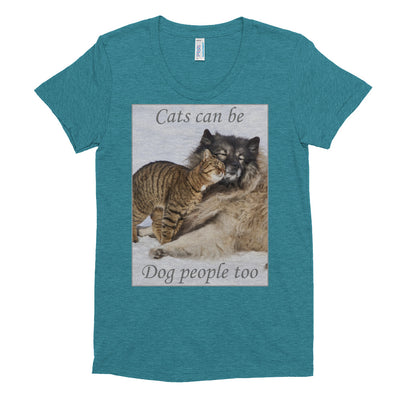 Cats can be dog lovers too – American Apparel TR301W Women's Tri-Blend T-Shirt