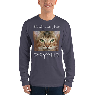 Really cute, but Psycho – American Apparel 2007 Unisex Fine Jersey Long Sleeve T-Shirt