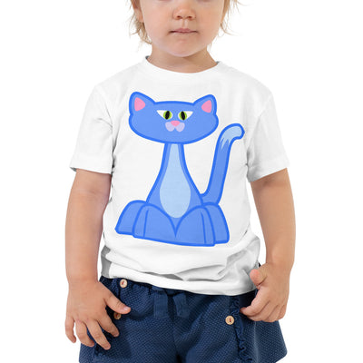 Blue Cat 2 – Bella + Canvas 3001T Toddler Short Sleeve Tee with Tear Away Label