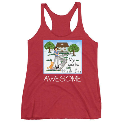 My Cats Think I'm Awesome – Next Level 6733 Ladies' Triblend Racerback Tank