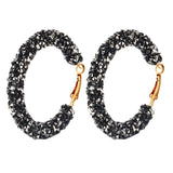 Z_Zavani Large Hoop Crystal Encrusted Earrings