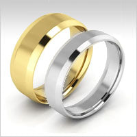 10K goldbeveled edge wedding bands