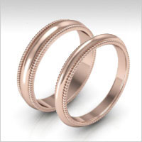14k rose gold milgrain
