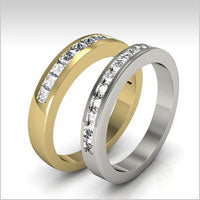 10K gold diamond wedding bands
