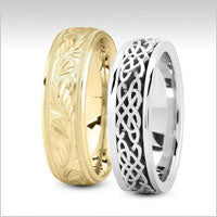 18k gold fancy design