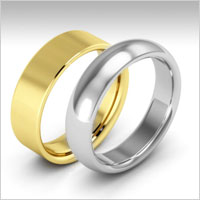 18k gold heavy weight wedding bands