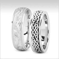 18k white gold fancy design