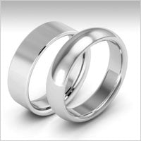 10K white gold heavy weight wedding bands