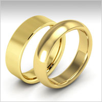 10K Yellow Gold Heavy Weight Wedding Bands