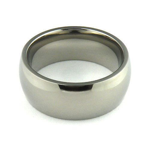 Titanium 8mm half round comfort fit wedding bands