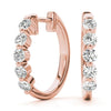 14K rose gold hoop 1/2 ct diamond earrings