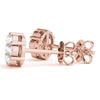 14K Rose gold cluster 1/2 ct diamond earrings