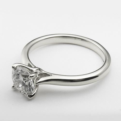 14K White Gold solitare engagement ring with a 1.0 ct lab created diamond.