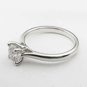 14K White Gold solitare engagement ring with a 0.5 ct lab created diamond.