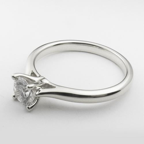 14K White Gold solitare engagement ring with a 0.75 ct lab created diamond.