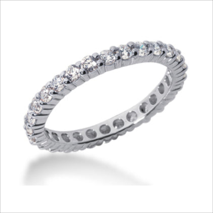 Clearance - 14K WHITE 2.0MM ETERNITY WEDDING BAND