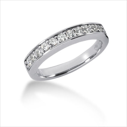 Clearance- 14K WHITE 3.5MM CHANNEL SET WEDDING BAND
