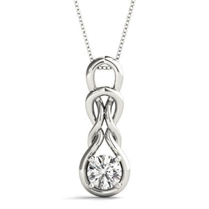 14K White gold multi-loop 1/2 ct diamond pendant
