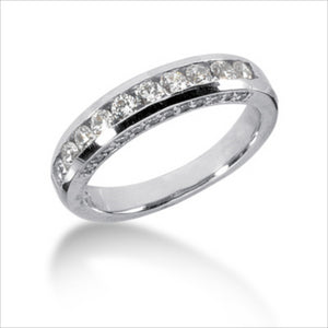 Clearance - PLATINUM 4.5MM CHANNEL SET WEDDING BAND (sz 6.5)
