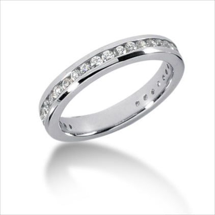Clearance - PLATINUM 4.0MM ETERNITY WEDDING BAND