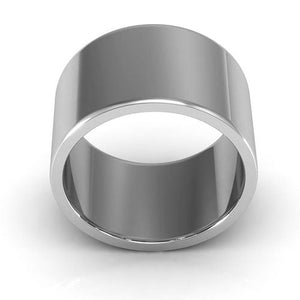 18K White Gold 12mm heavy weight flat  wedding bands