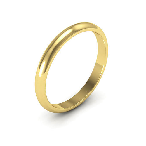 14K Yellow Gold 2.5mm heavy weight half round  wedding bands