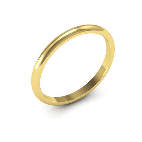 14K Yellow Gold 2mm heavy weight half round  wedding bands