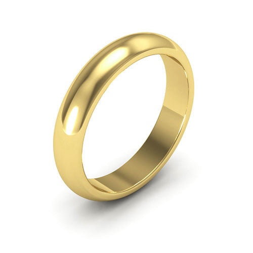 18K Yellow Gold 4mm heavy weight half round  wedding bands
