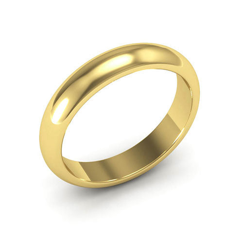 14K Yellow Gold 4mm heavy weight half round  wedding bands