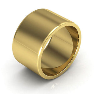 10K Yellow Gold 12mm heavy weight flat  wedding bands