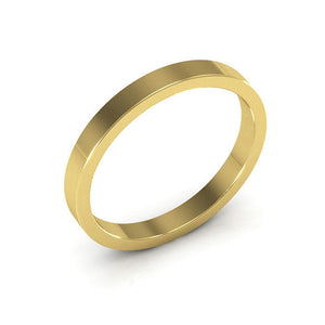 10K Yellow Gold 2.5mm heavy weight flat  wedding bands