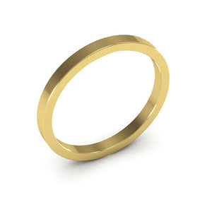 10K Yellow Gold 2mm heavy weight flat  wedding bands