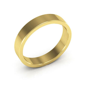 10K Yellow Gold 4mm heavy weight flat  wedding bands