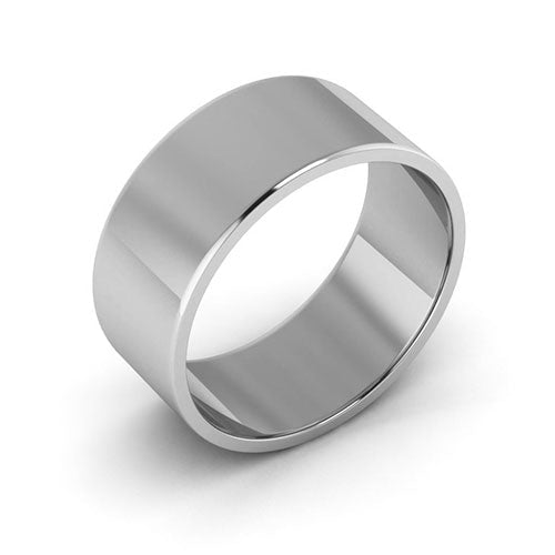 Platinum 8mm flat  wedding bands