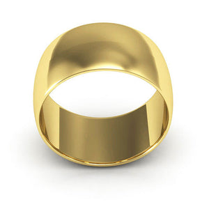 14K Yellow Gold 10mm half round  wedding bands