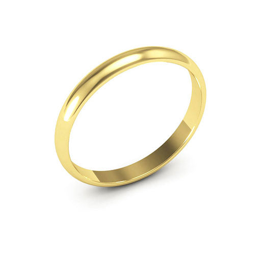 14K Yellow Gold 2.5mm half round  wedding bands