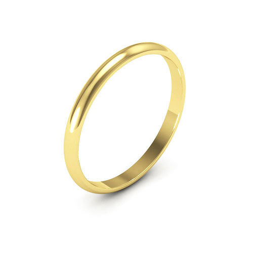 18K Yellow Gold 2mm half round  wedding bands