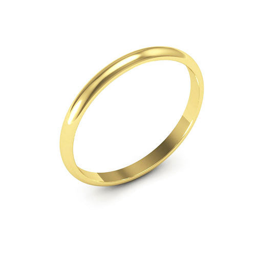 14K Yellow Gold 2mm half round  wedding bands