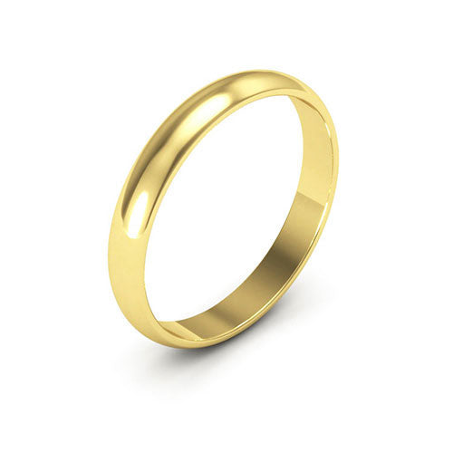 18K Yellow Gold 3mm half round  wedding bands