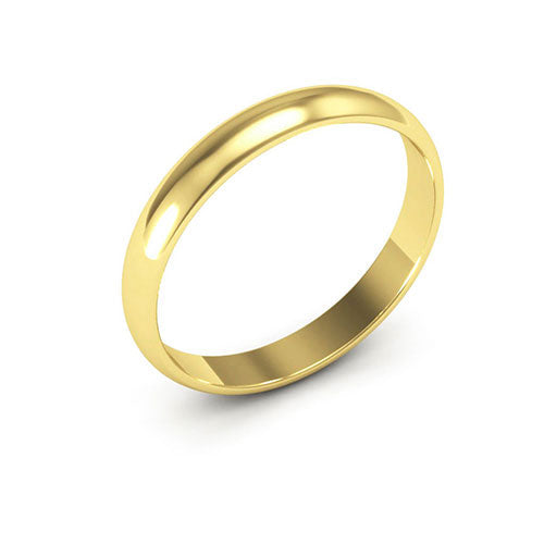 14K Yellow Gold 3mm half round  wedding bands