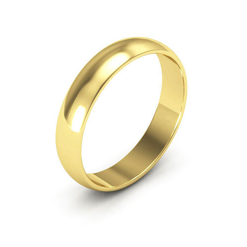 18K Yellow Gold 4mm half round  wedding bands