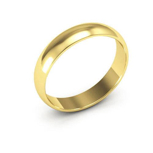 14K Yellow Gold 4mm half round  wedding bands