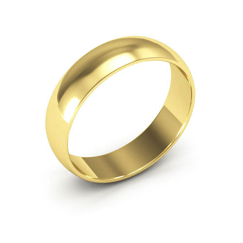 10K Yellow Gold 5mm half round  wedding bands