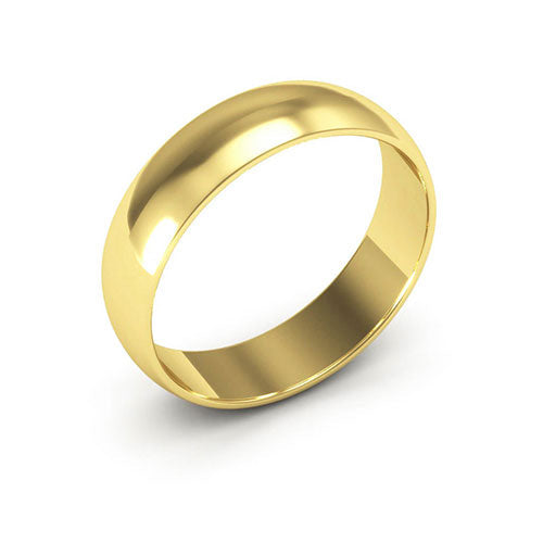 18K Yellow Gold 5mm half round  wedding bands