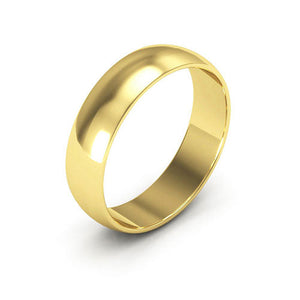 14K Yellow Gold 5mm half round  wedding bands