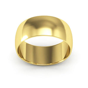 14K Yellow Gold 8mm half round  wedding bands