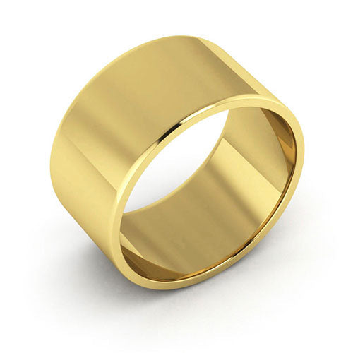 18K Yellow Gold 10mm flat  wedding bands