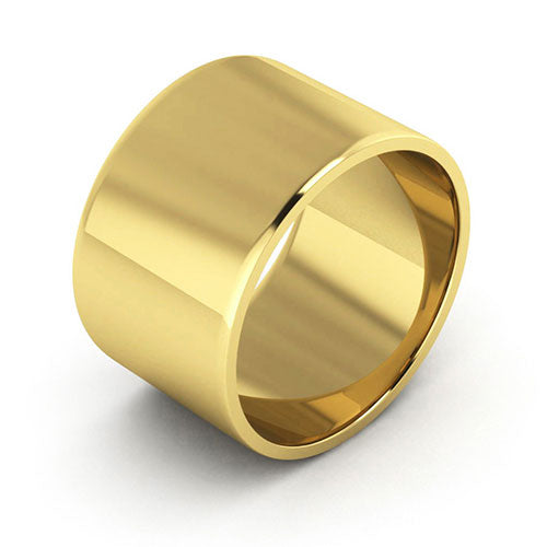 10K Yellow Gold 12mm flat  wedding bands