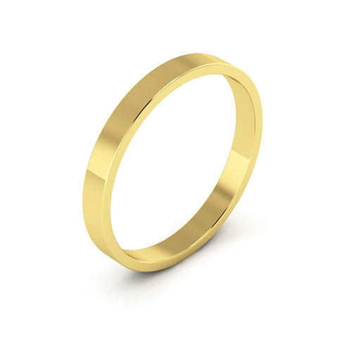 18K Yellow Gold 2.5mm flat  wedding bands