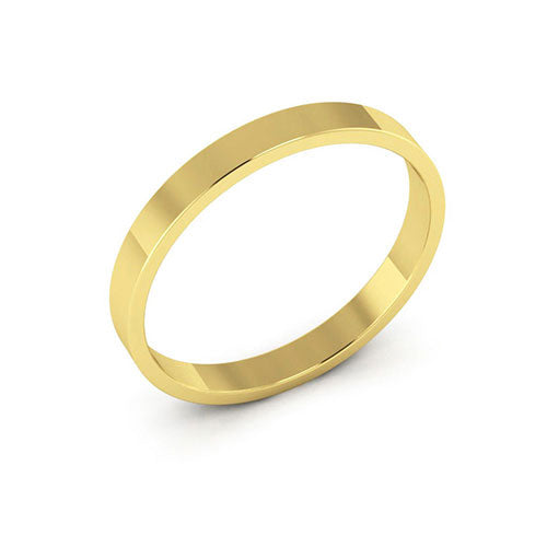 10K Yellow Gold 2.5mm flat  wedding bands